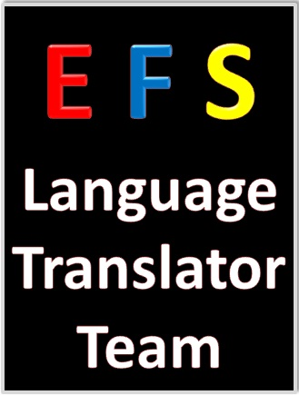 EFS Language Translator Team provides written translations from English & French to Spanish with 100% quality. Books, manuals, documents. We accept work from almost every country in the world.