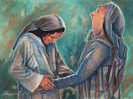 En cuanto Isabel oyó el saludo de María, saltó la criatura en su vientre. Se llenó Isabel del Espíritu Santo y dijo a voz en grito: ¡Bendita tú entre las mujeres, y bendito el fruto de tu vientre!