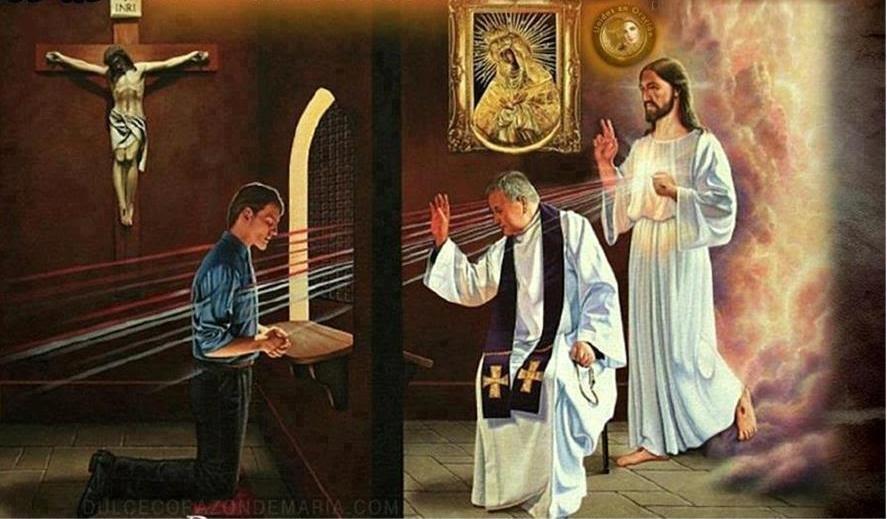 Y, dicho esto, exhaló su aliento sobre ellos y les dijo: Recibid el Espíritu Santo; a quienes les perdonéis los pecados, les quedan perdonados; a quienes se los retengáis, les quedan retenidos.