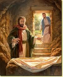 Entonces entró también el otro discípulo, el que había llegado primero al sepulcro; vio y creyó. Pues hasta entonces no habían entendido la Escritura: que Él había de resucitar de entre los muertos