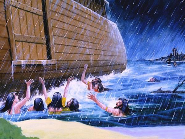 Antes del diluvio, la gente comía y..., hasta el día en que Noé entró en el arca; y cuando menos lo esperaban llegó el diluvio y se los llevó a todos; lo mismo sucederá cuando venga el Hijo del hombre