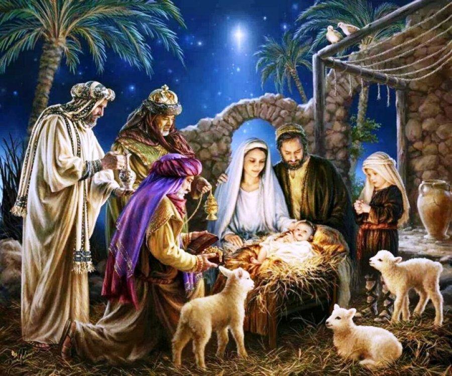 """""""vieron al niño con María, su madre, y cayendo de rodillas lo adoraron"""""""