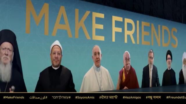 El Indiferentismo religioso, que coloca a todas las creencias religiosas al mismo nivel, es promovido por el Papa Francisco con el pretexto de la paz