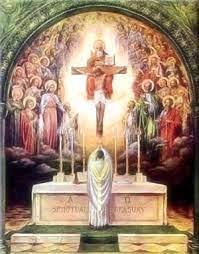En el momento de la Comunión, vi a nuestro benefactor, quien con las manos juntas y el rostro resplandeciente me agradecía lo que había hecho para rescatarlo del Purgatorio.