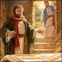 """""""Entonces entró también el otro discípulo, el que había llegado primero al sepulcro; vio y creyó. Pues hasta entonces no habían entendido la Escritura: que Él había de resucitar de entre los muertos"""""""