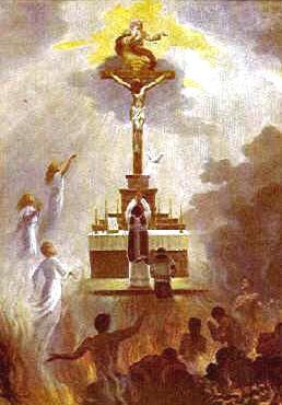Consideremos el papel que nosotros, miembros de la Iglesia militante en la tierra, tenemos con las almas del purgatorio: consiste en ayudarlas en sus sufrimientos.