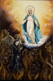 Yo soy, le dice la Santísima Virgen, la Madre de todos los que están en el Purgatorio; mis oraciones suavizan los castigos que se les infligen por sus faltas. ¿No soy yo el consuelo de los afligidos?