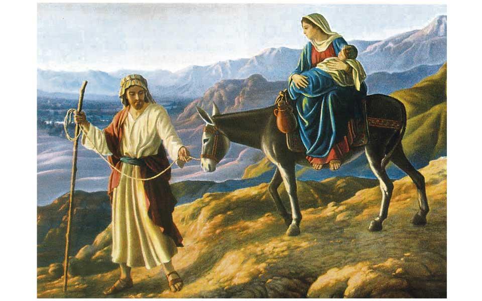 Levántate, coge al niño y a su madre y huye a Egipto; quédate allí hasta que yo te avise, porque Herodes va a buscar al niño para matarlo.